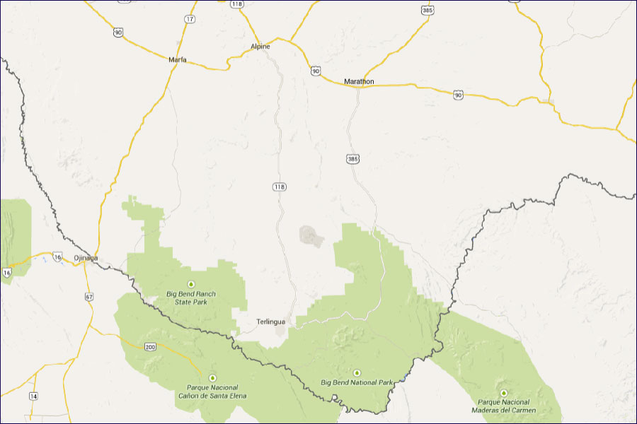 drivemap Visit Big Bend Guides for the Big Bend Region of Texas