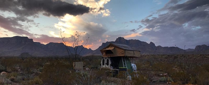 Camping in Big Bend Backcountry